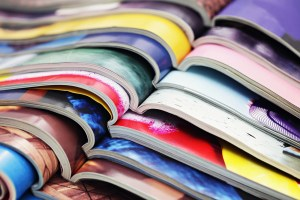 Stack of magazines.