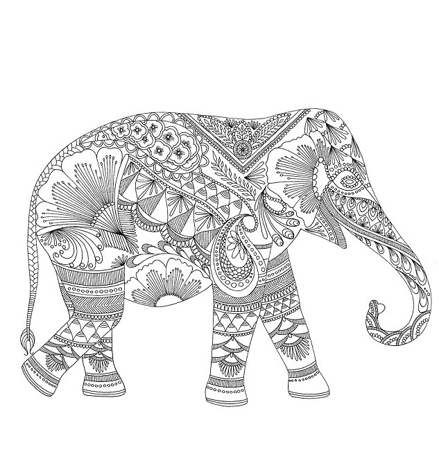 elephant coloring pages for