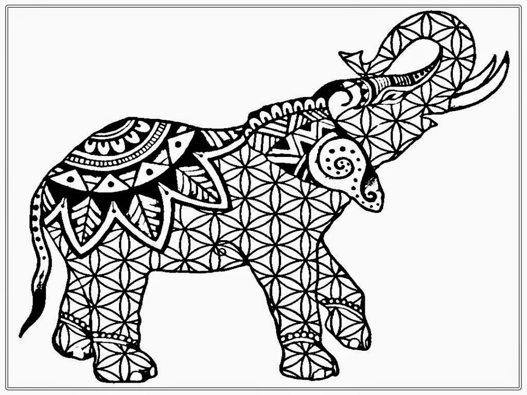 elephant coloring pages for adults printable tribal print elephant