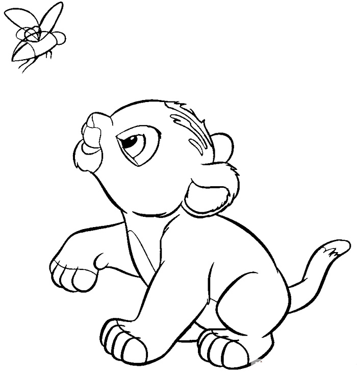 free baby lion coloring pages free cute colouring inicio beanie with king boo coloring pages