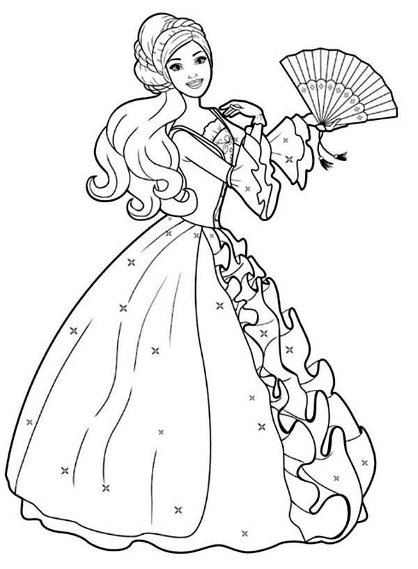 barbie coloring pages free # 54