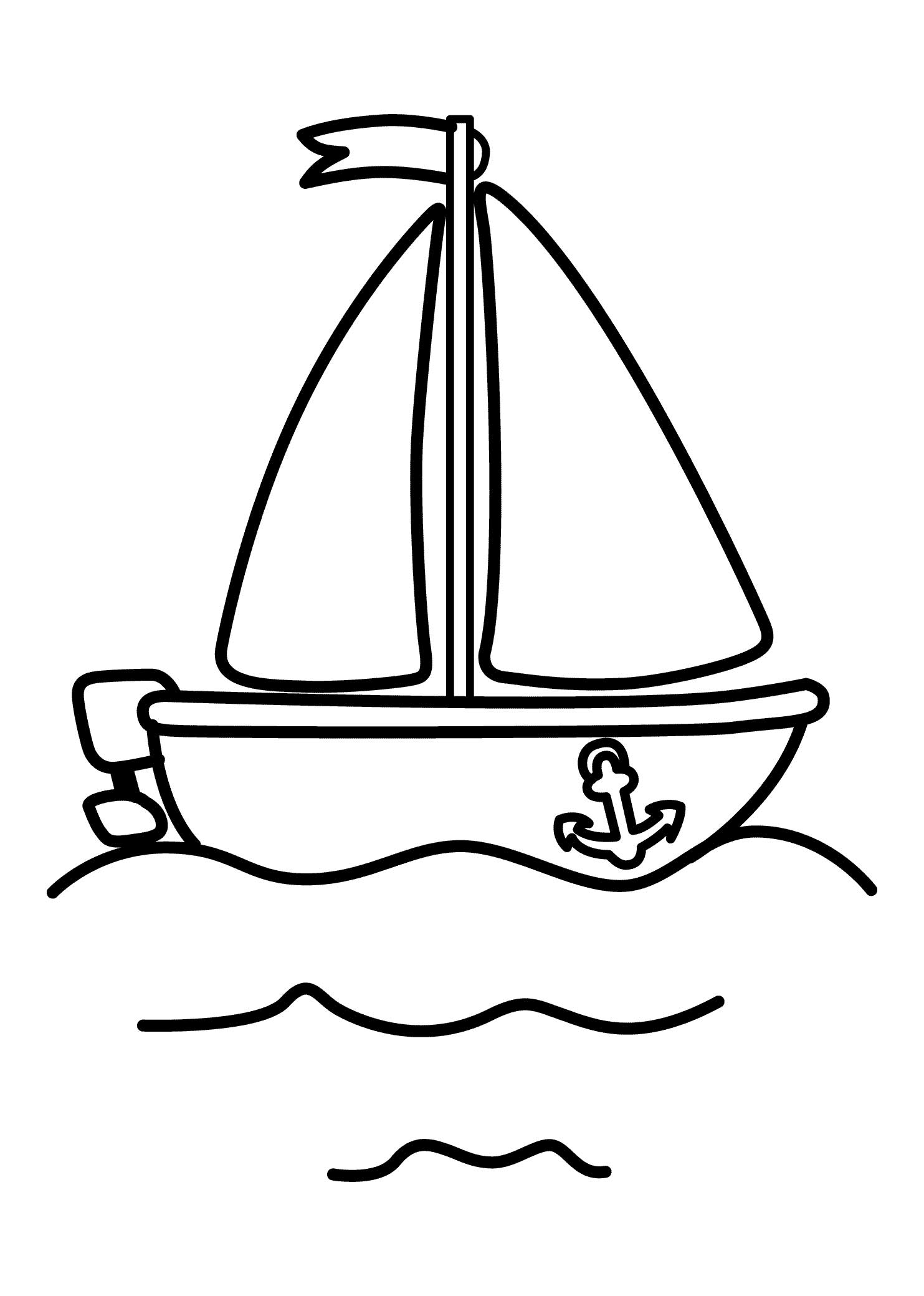 21 Printable Boat Coloring Pages Free Download