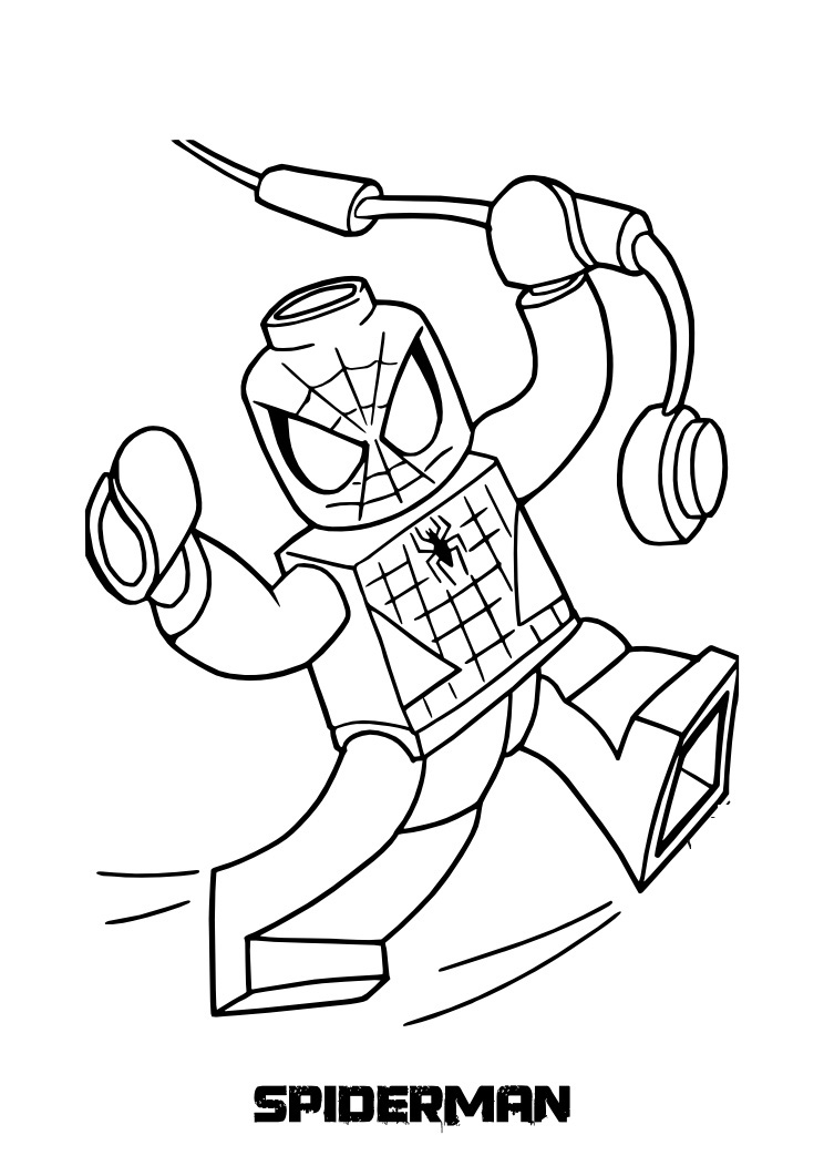 top 20 spiderman coloring pages printable
