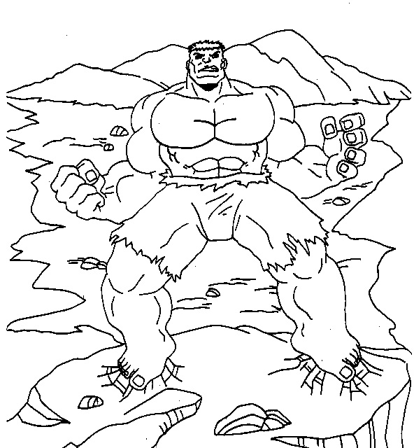 hulk coloring pages