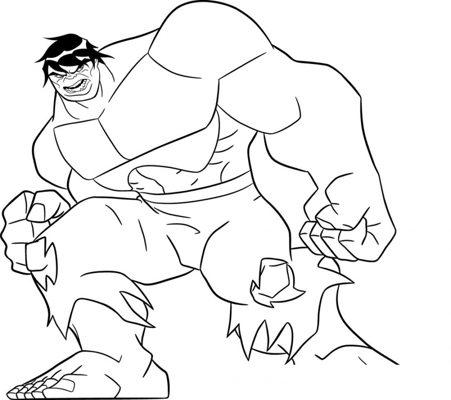 Incredible Hulk Coloring Pages Printable