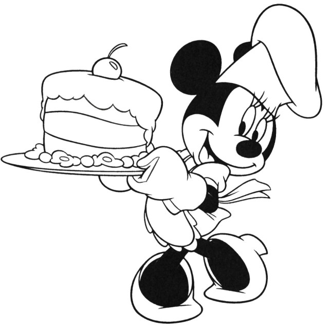 Mickey Mouse Birthday Coloring Pages  Free Coloring Pages