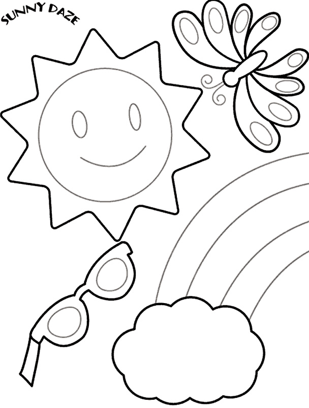 free summer coloring pages for kindergarten free printable