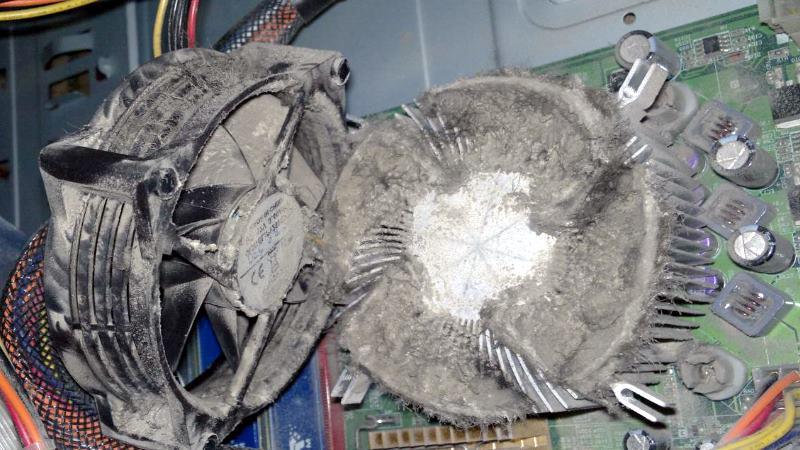 Pembersihan tetap komputer dari habuk