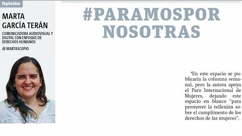 #ParamosPorNosotras