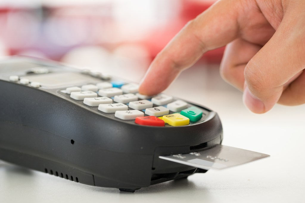 Credit card machine payment and dollar
