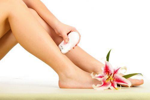 Epilador de pé de depilação