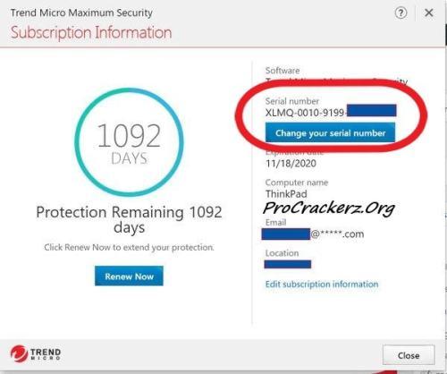 Trend Micro Antivirus Serial Number 2022