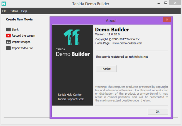 Tanida Demo Builder 11.0.27.0 Crack & Portable Download Free
