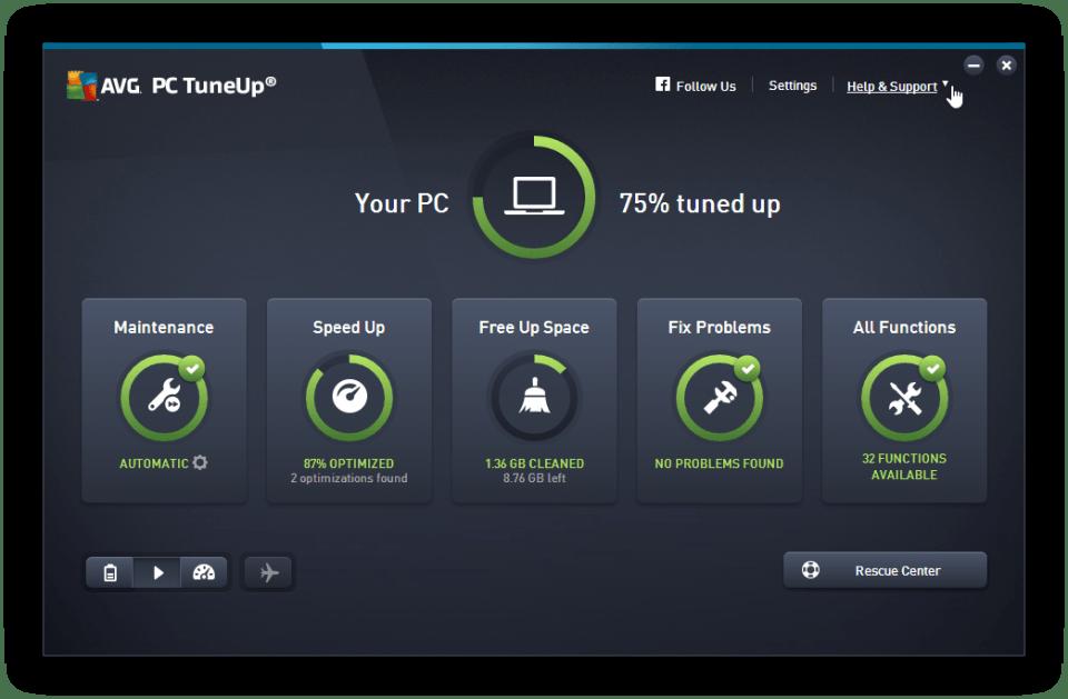 AVG PC TuneUp 2017 Crack & Serial Keys Download [Mac + Win]