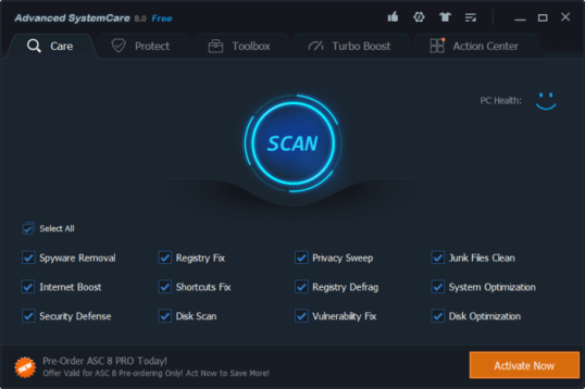 Advanced SystemCare Free 11.3.0.221 Pro Crack 2018 Download