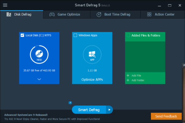 IObit Smart Defrag Pro 5.7.0 Crack & Serial Key - Latest