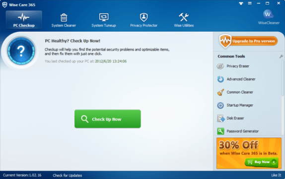 Wise Care 365 Free 4.8.1.463 2018 Crack & Portable Download