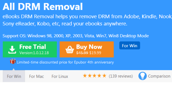 Epubor All DRM Removal Crack