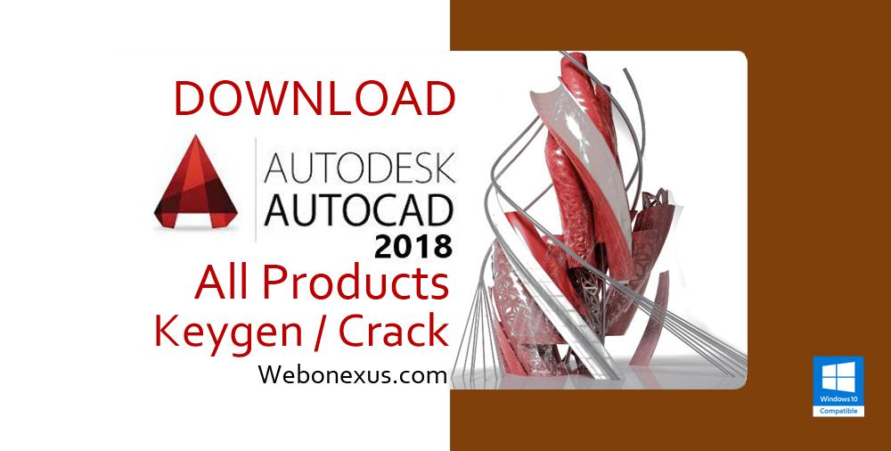 AutoCAD 2018 Crack + Keygen Full Version Free Download