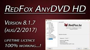 Redfox AnyDVD HD 8.1.7 Patch & Serial Key