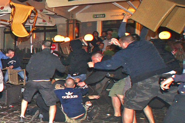 £££ reuse fee applies - Fans fight in Poznan