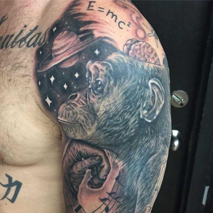 Tatuaje de Chimpancé y ciencia