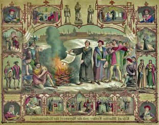 Lutero quemando una Bula