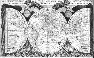 Mapa mundi por Kepler