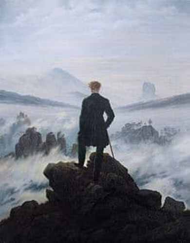 Caminante sobre mar Caspar Friedrich