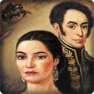 Manuela Sáenz y Simón Bolívar