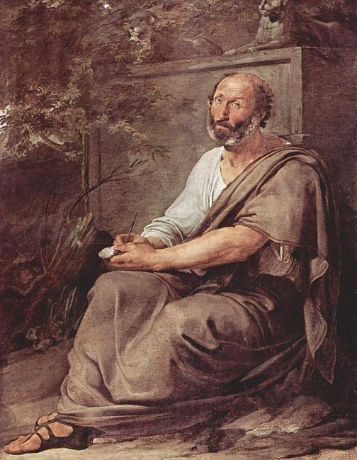 Pintura de Aristoteles Por Francisco Hayez