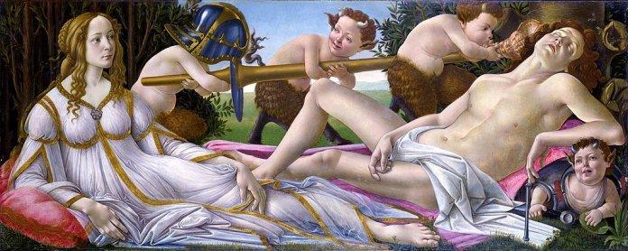 Venus y Marte, por Sandro Boticelli