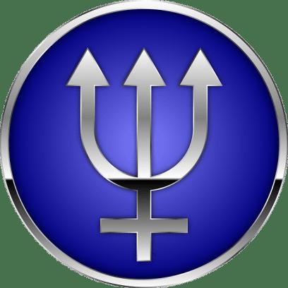 una versión estilizada del tridente del dios Neptuno.
