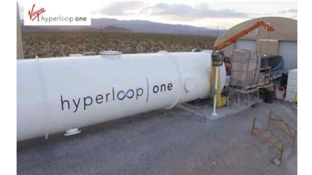 Virgin Hyperloop One en las Vegas