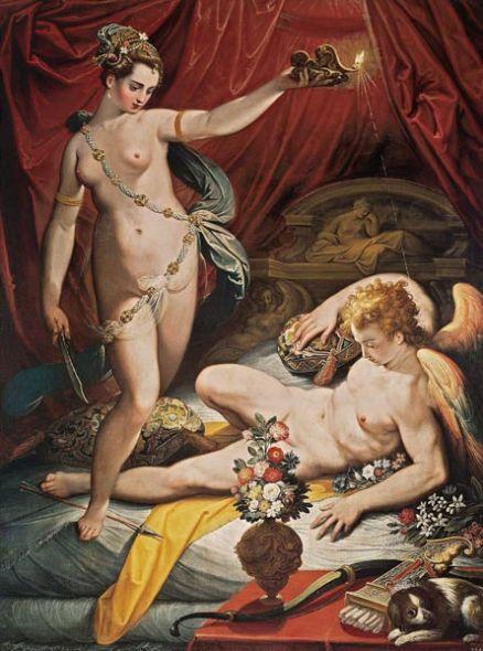 Eros conoce a Psique