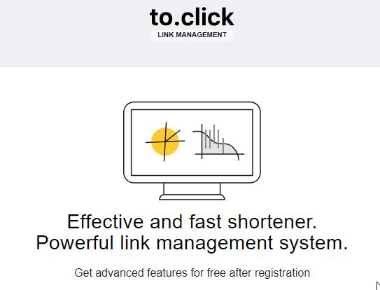Toclick un buen acortador de enlaces