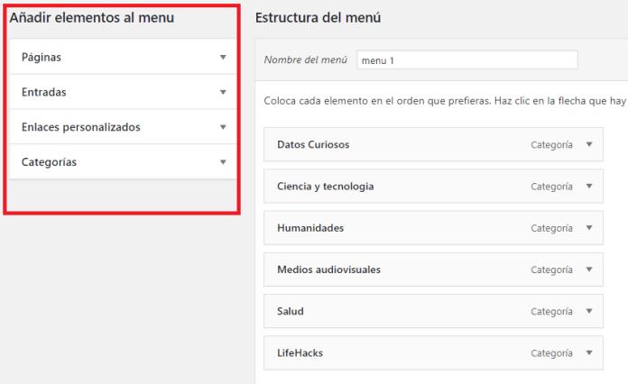 como crear un menu para mi sitio web