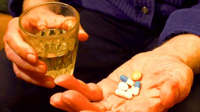pastillas y licor