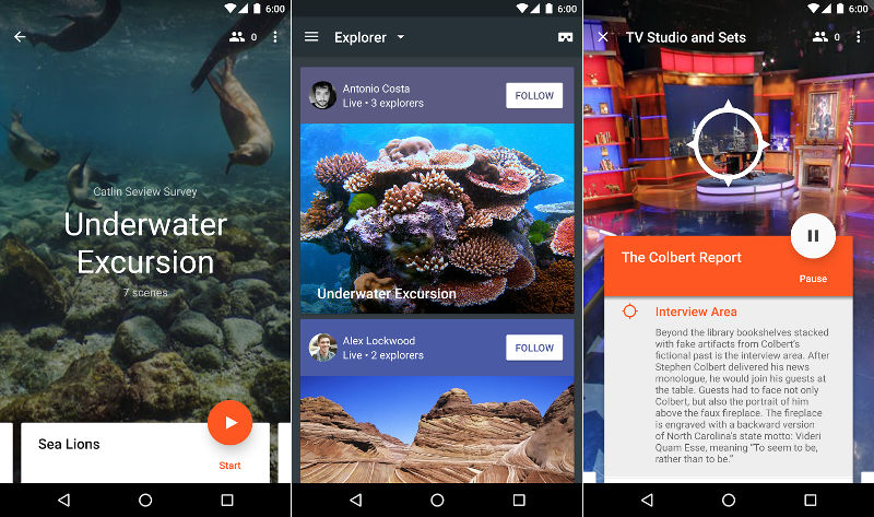 google expeditions realidad virtual