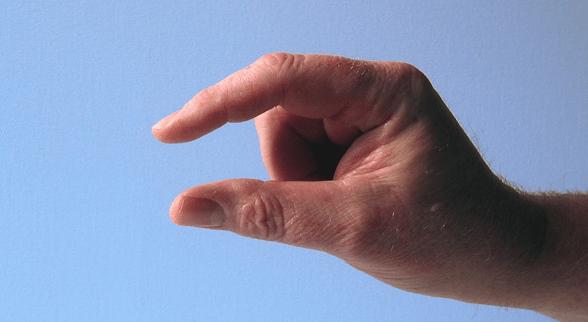 mano haciendo gesto