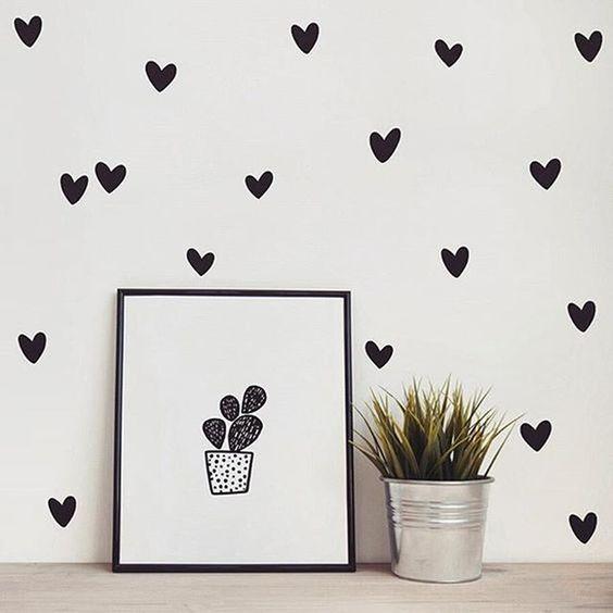 pared de corazones 45