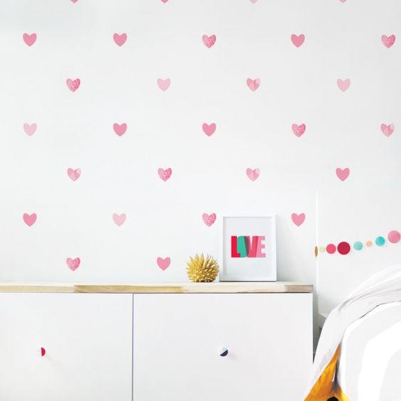 pared de corazones 46