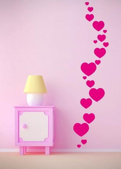 pared de corazones 54