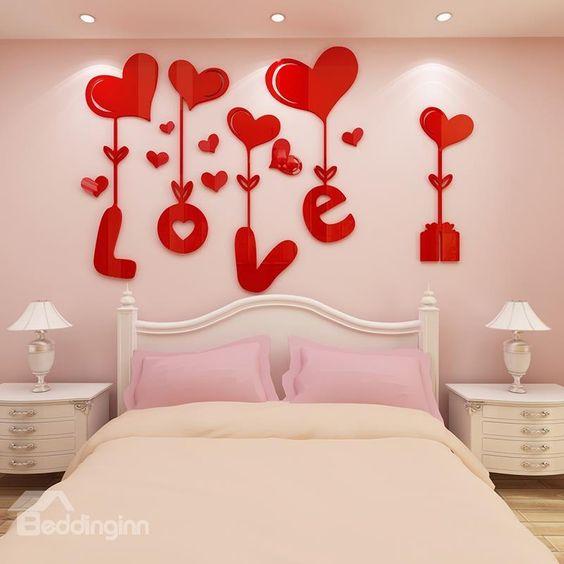 pared de corazones 57
