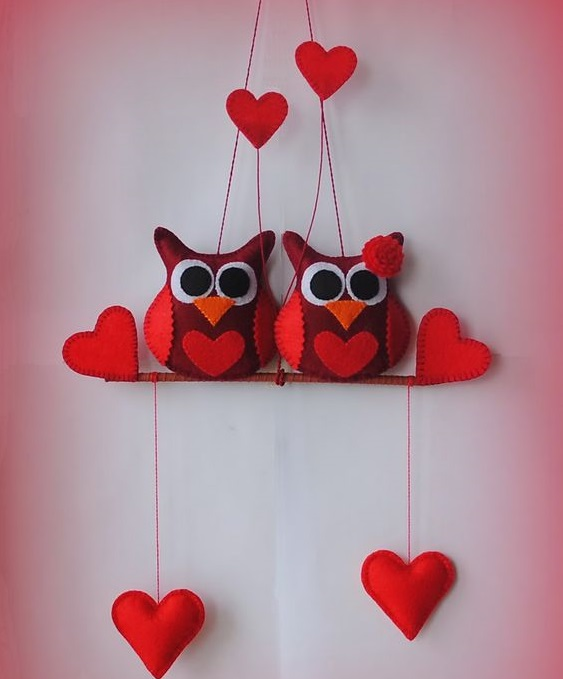 pared de corazones 62