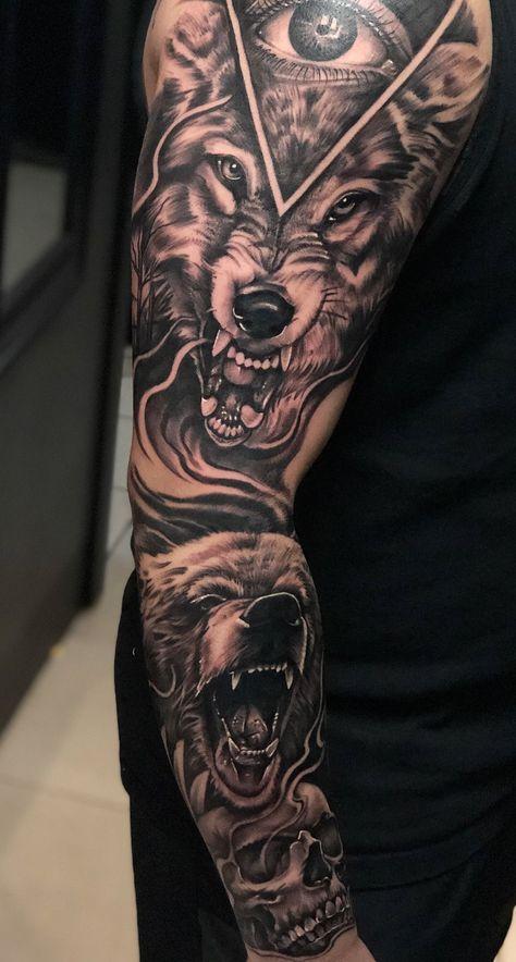 Tatuaje de lobo feroz 9