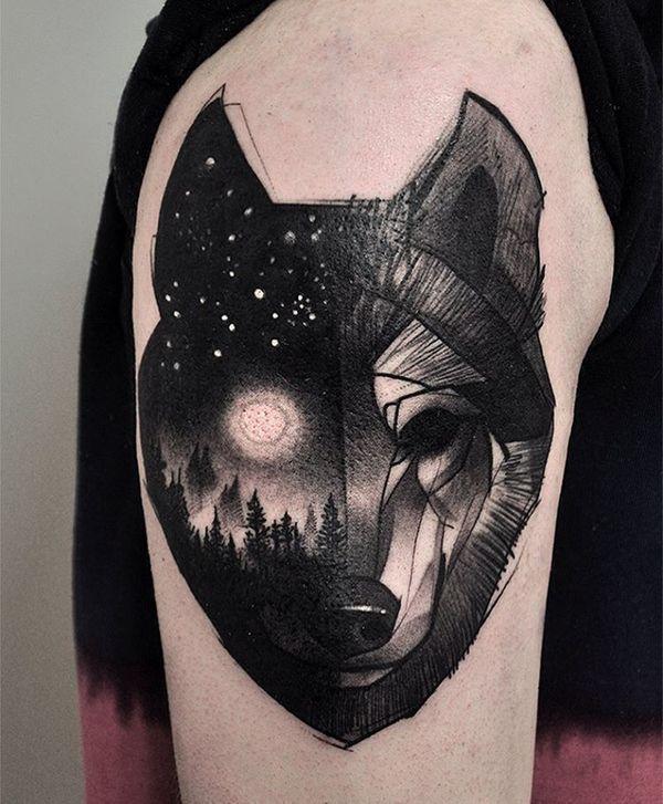 Tatuajes aesthetic en blanco y negro 29