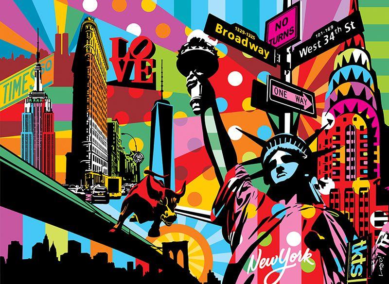 ciudades pop art