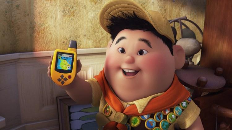O menininho escoteiro Russell, de Up! Altas Aventuras