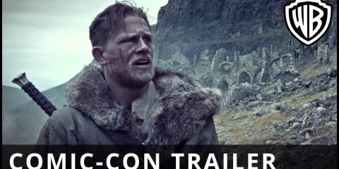 comic con trailer rei arthur lenda da espada